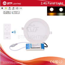 Mi light wireless RF remote dimmable + 1x 2.4g CCT surface mounted led panel light 12w
