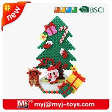 Hot sale educatinal toys jigsaw 3d puzzle mat fuse beads