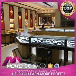 Personalized Modern Decoration Glass Showcase Jewelery Shop Layout Design For Jewelry Shop