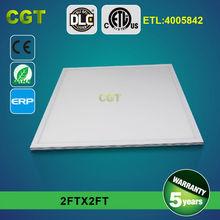 no flash DLC ETL TUV GS LED flat light panel light 600 600 2FTx2FT 36w 48w 54w 72w 5 years warranty
