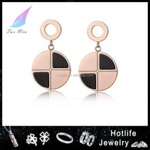 2015new product western fashion style gold earring findings wholesale with hole
