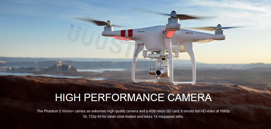 New DJI Phantom 2 Vision + Plus RTF w/HD 1080P Wi-Fi Camera for FPV RC Quadcopter