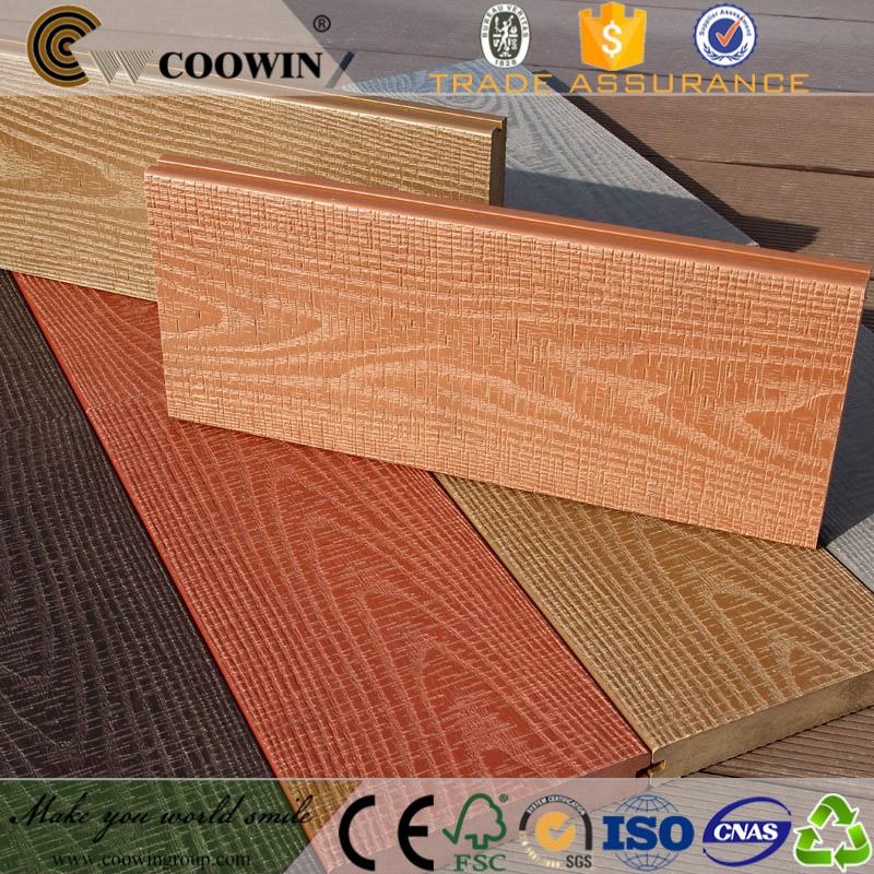 Coowin finiture in legno naturale legno decking pavimento esterno wpc deck composito deck