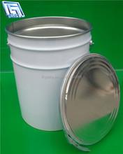 10L white paint steel metal tin pail/bucket