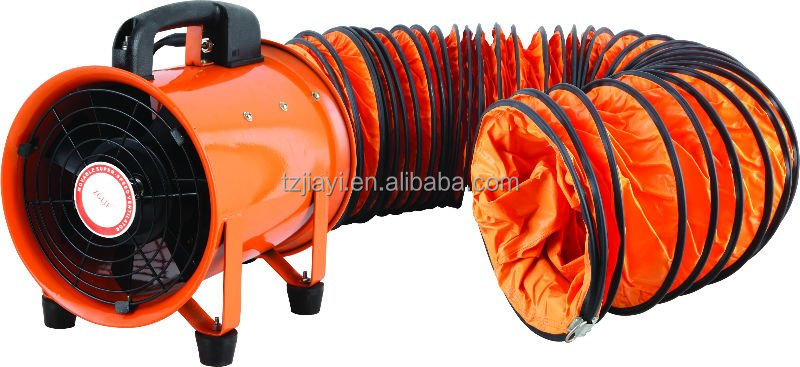 Portable Ventilation Fan With Ducting : Exhausted flexible duct with portable air ventilation fan