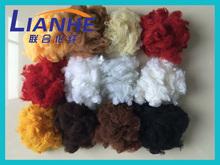 green/plum/camel/navry polyester staple fiber size in 1.5*38