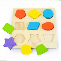 wood education toy, shape recognition toy for children
