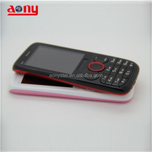 ultra slim cheap dual sim quad band mobile phone 2.4inch low price feature phone