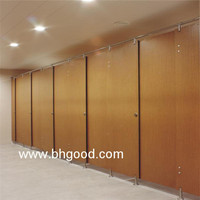 wood Hpl/compact Laminate/toilet Partition with SS hardware
