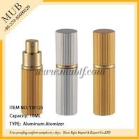2015 hot sales empty aluminum glass parfume bottle