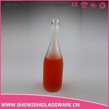 Venta al por mayor de china de vino botella de vidrio, vacío 550ml esmerilado de vidrio botella de licor