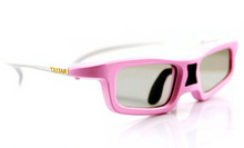 IR 3D glasses pink for young people