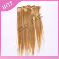 Best Selling Products 100% Unprocessed Virgin Peruvian Hair #99j Full Head Colored Clip In Hair Extension