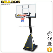 screw jack adjustable portable basketball system