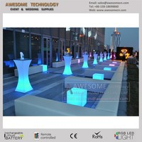 led exterior furniture / outdoor wedding cocktail table (TP110A)