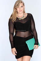 2015 Europe new plus-size lingerie Europe and the United States foreign trade big sizes club party wear