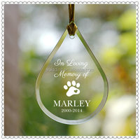 Christmas Memory Drop Glass Ornament For Holiday Decoration
