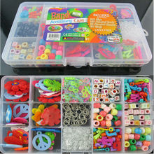 New Rubber bands loom bands bracelet charms DIY accessory case