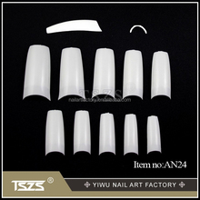 New Sale 500PCS French short modern Acrylic Fake False Half cover Nail Art Tips white