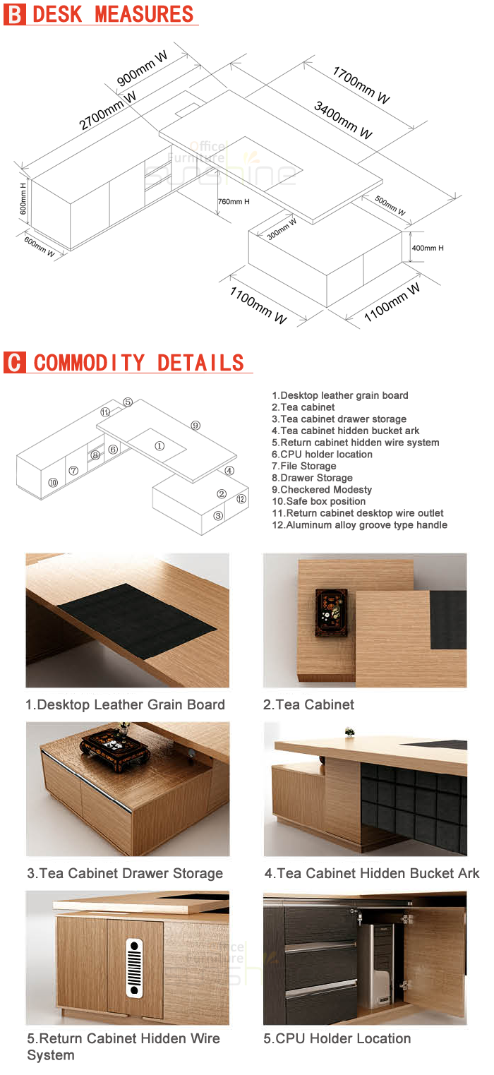 new design mdf luxury wood table modular office furniture modern ceo rh alibaba com