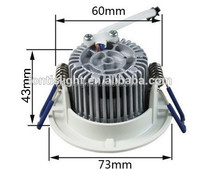 5W Recessed COB Led Downlight with 60mm cutout/ High Power 2Inch downlight for corridor lighting