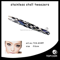Pretty plastic eyebrow tweezers/eyelash tweezer