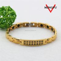 Mingfu fake diamond magnetic bracelet arabic gold jewellery designs