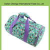 High capacity polyester cotton travel floral printing duffel bag