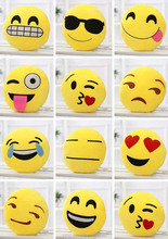 wholesale abundant super cute QQ emoji design round pillow
