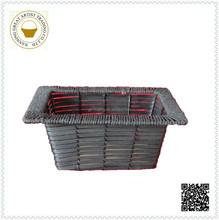 wholesale cheap black rectangle plastic gardening baskets
