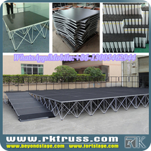 RK used portable modular stage/fashion show trade show wedding stage design/heavy duty concert outdoor indoor events stage sale