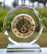 Crystal Crafts Wholesale Crystal Desk Clock For Home Decoration