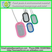 Silicone dog tag silencer /pet pendants /dog name tags,