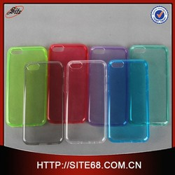Fashion Clear TPU Case for Apple Iphone 6,transparent tpu ultra thin cellphone case for iphone,high quality cheap price case 5c