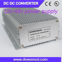 1000W plastic waterproof case dc dc step up converter converter 12v to 48v high voltage power supply
