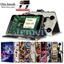 "Hot! Magnetic Flip Universal Tablet Case 8 inch For Perfeo 8506-IPS 8"", Multiple Patterns Printed PU leather Stand Cover"