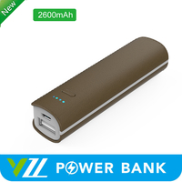 2016 New Promotion 2600mah Power bank Rubber Smart Power Bank 2600 mah