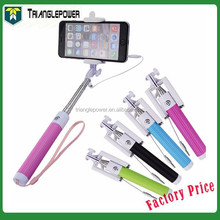 Wired Selfie Stick Handheld Monopod Built-in Shutter Extendable with Fold Holder For iPhone Samsung Smartphone Any Phones Camera