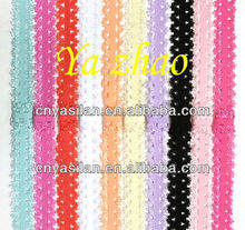 """5/8"""" Frilly Elastic Lace Headbands Wholesale Lace Baby Headbands IN STOCK"""