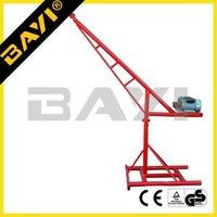 construction portable lifting cranes/China single pipe mini crane