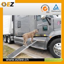 Aluminum pet travel lift,black pet ladder ramp