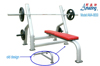 Body fit gym machine power mechanical bench press muscle training exercises AMA8830
