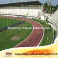 Prefabricada de goma sintética corrientes atléticos superficie de la pista para exterior deporte superficie