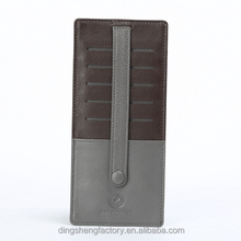 Fashion luxury brown real leather with client's logo