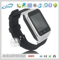 China New 3G CDMA Android 4.4 Kitkat Cell Phone Watch WIFI Watch Mobile Phone