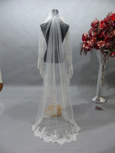 2015 Lace Scarf Full Length Lace And Tulle Muslim Wedding Veils Designs