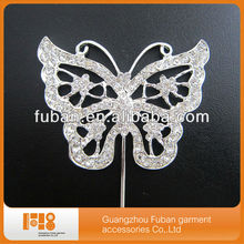 butterfly rhinestone cake topper for wedding cake from china wholesale