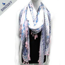 Fashion high quality beautiful woven white silk scarf