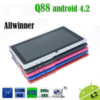 "Allwinner A23 Q88 Tablet PC Android 4.4.2 Slim 7"" Capacitive WIFI Camera 1.2GHz 512MB 4GB"