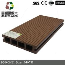 Plastic composite decking ground level made in China
